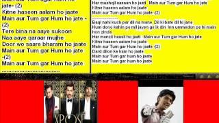 Dard dilo ke kam ( The Expose ) Free karaoke with lyrics by Hawwa -