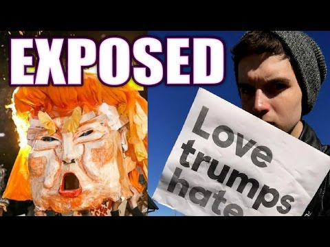 TRUMP PROTESTS! Liberal Hypocrisy Exposed