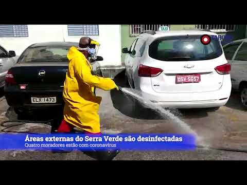 Condomínio Serra Verde é desinfectado após casos de coronavírus