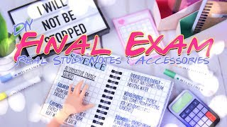 DIY - How to Make: Final Exam Study Notes & School Accessories