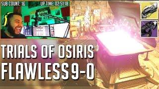 Destiny Trials of Osiris Flawless Run 9-0 w/ Light House Rewards
