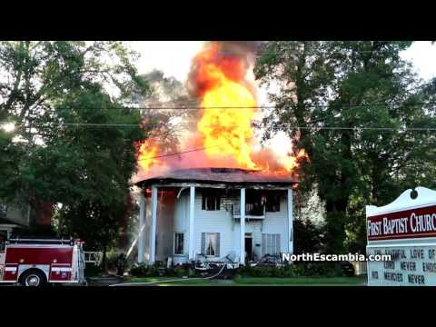 Atmore Historic Home Fire -- NorthEscambia.com