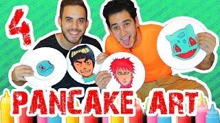 Dibujando con Pancake 4 con ArteMaster | PANCAKE ART CHALLENGE