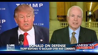 • Donald Trump Responds to McCain Backlash • 7/19/15 •