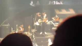 Taeyang takes off his shirt for Eyes Nose Lips Yokohama SOL RISE tour 140818