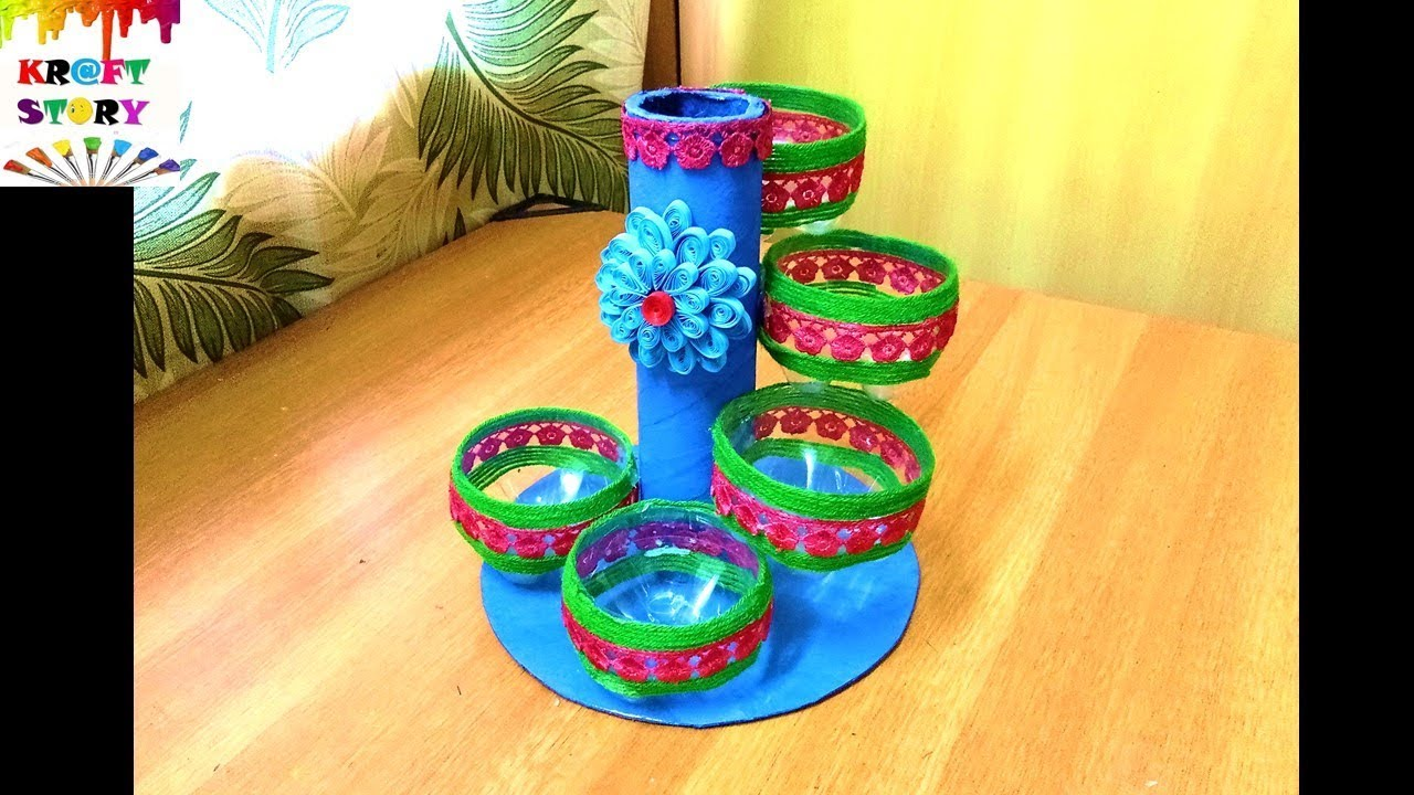 Plastic bottle craft plastic bottle organizer best out for Waste material craft work with bottles