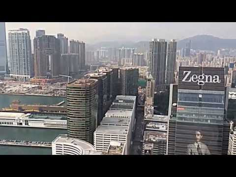 My first helicopter flight over the island of Hong Kong