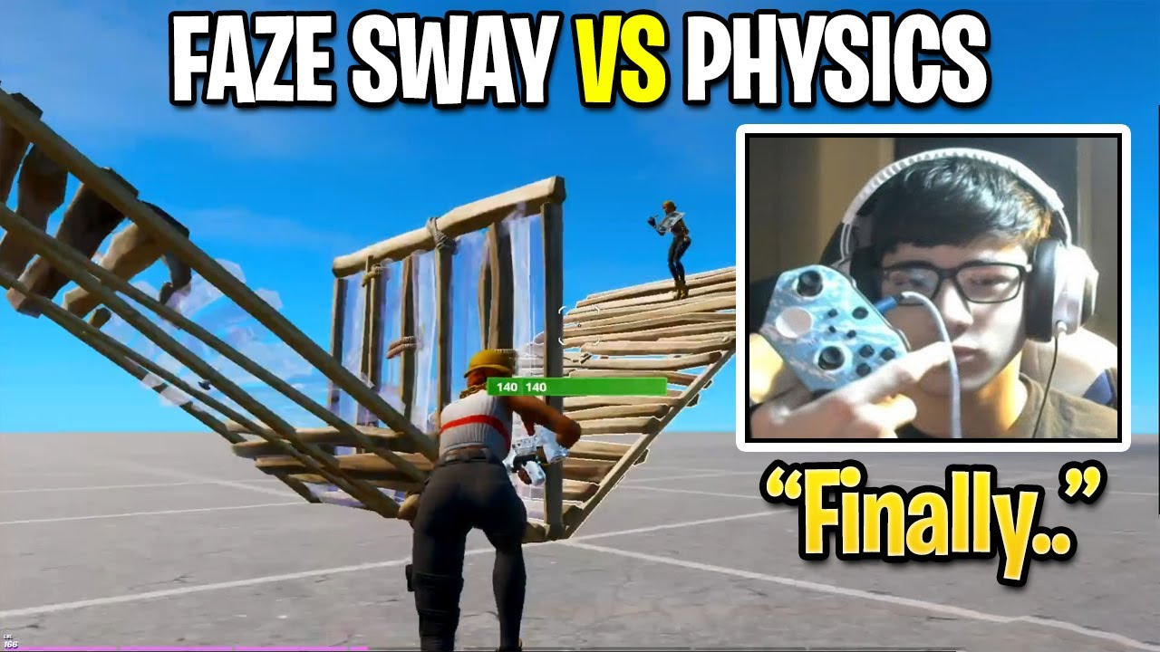 FaZe Sway 1v1 Outcast Physics in Creative Buildfight After a LONG Time! (Fortnite Season 3)