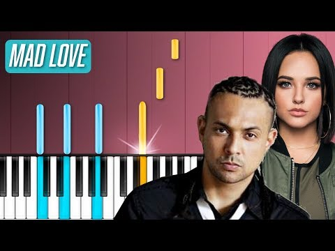 "Sean Paul David Guetta  - ""Mad Love"" ft Becky G Piano Tutorial - Chords - How To Play - Cover"