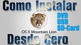 Instalar OS X Mountain Lion 10.8 Desde USB, SD Card o DVD En Español