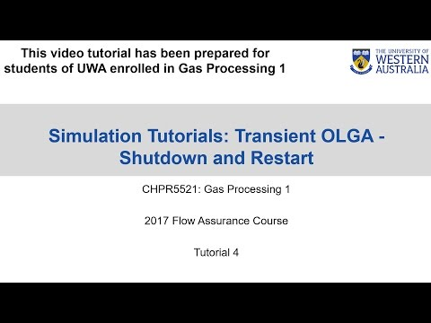 OLGA Tutorial 4 - Transient Shutdown / Restart Cases in OLGA