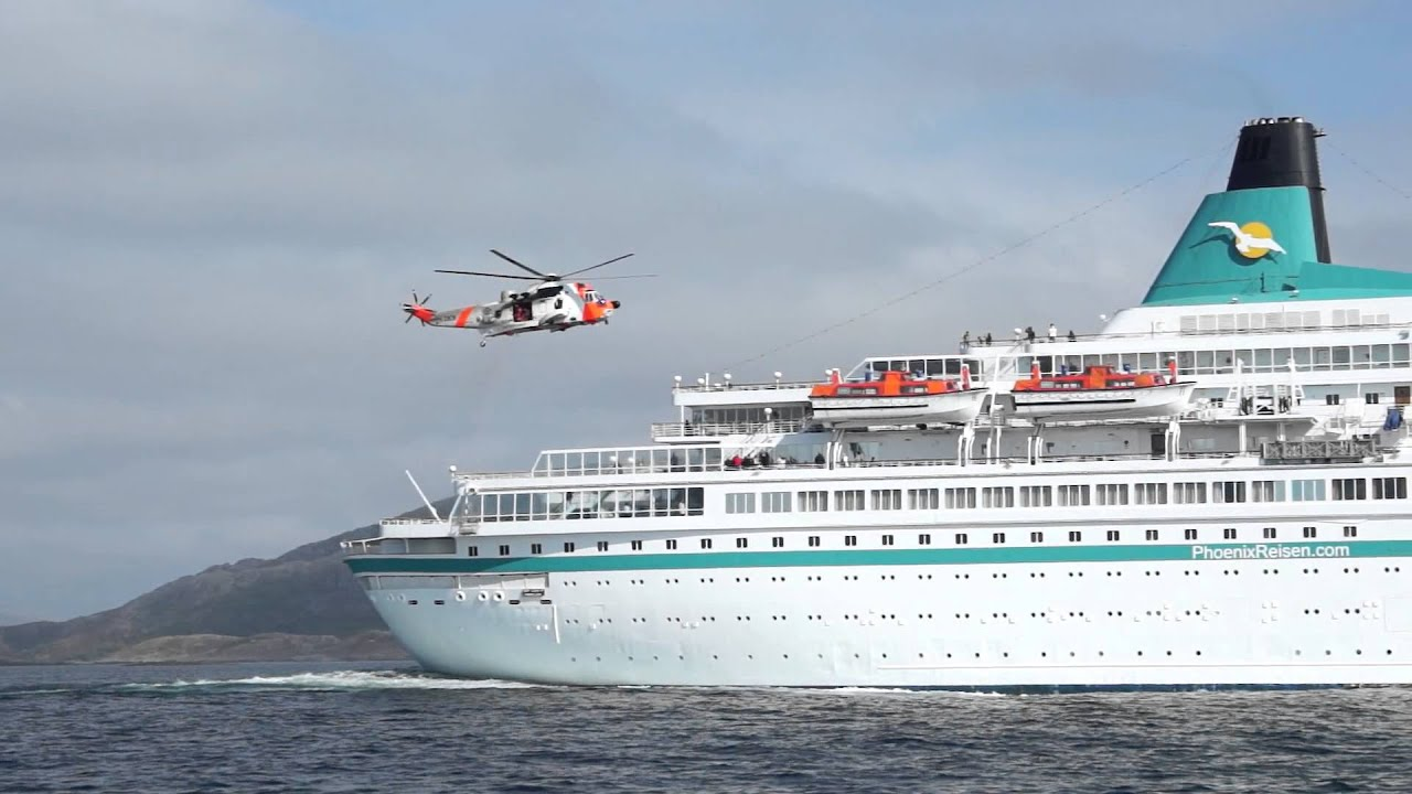 Helicopter Rescue Operation In Cruising Ship North Norway YouTube - Cruise ship rescue