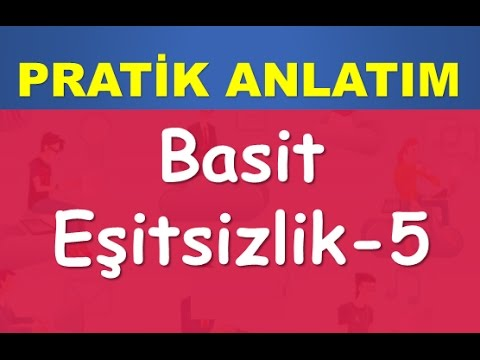 39) BASİT EŞİTSİZLİKLER | Konu-Soru Çözümü | YKS(TYT)-KPSS-DGS-ALES | Matematik | Abdül Aziz Gürbüz