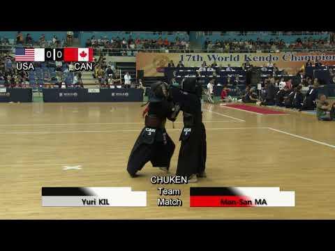 17th World Kendo Championships Women's TEAM MATCH 4ch United States Of America Vs Canada