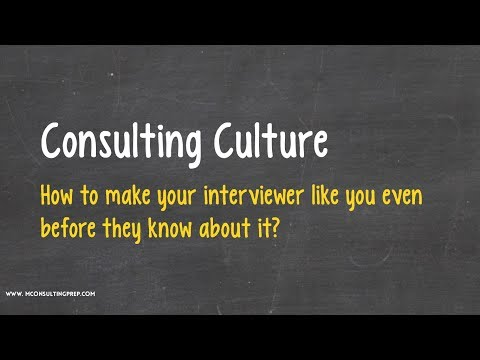 Consulting Culture - Going inside the brain of Interviewers