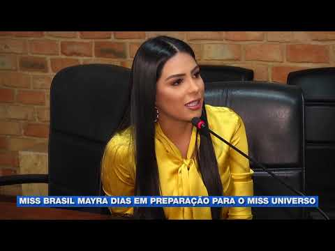 Miss Brasil Mayra Dias em preparação para o Miss Universo