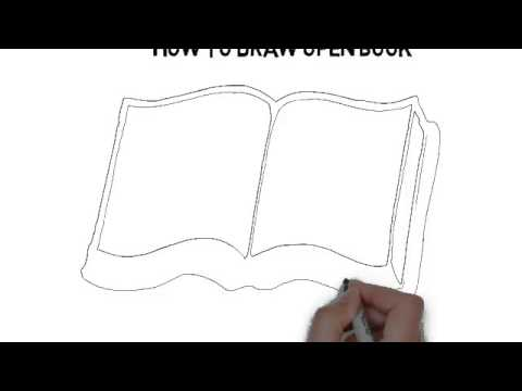 How To Draw Open Book Youtube