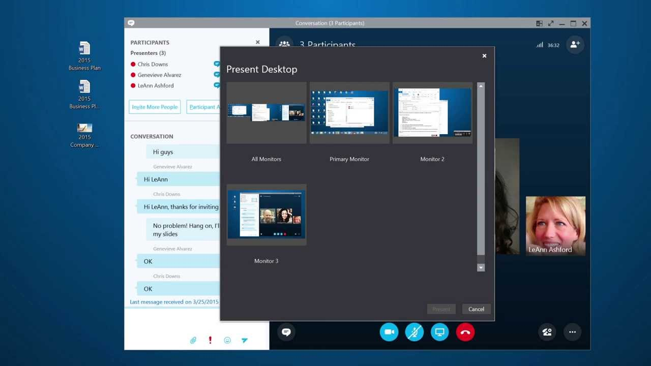Meet and share using Skype for Business