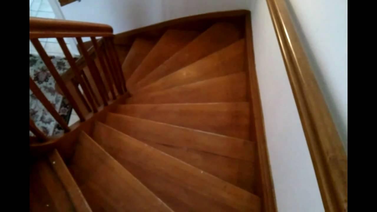 Alte Holztreppe sanieren & renovieren HD Video Anleitung - YouTube