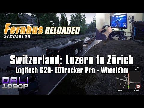 Fernbus Simulator | Switzerland: Luzern to Zürich | Wheel Cam