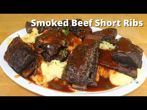Smoked Beef Short Ribs | Smoking Short Ribs on Ole Hickory Smoker with Malcom Reed HowToBBQRight