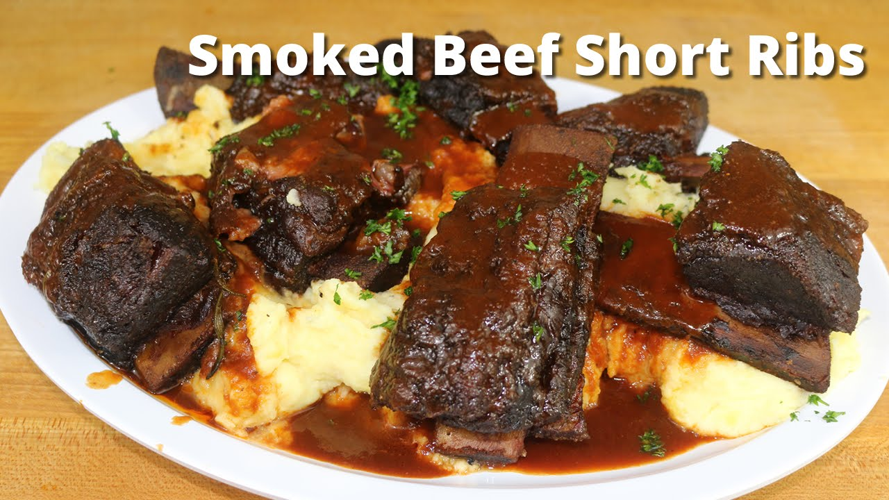 Smoked Beef Short Ribs Smoking Short Ribs On Ole Hickory Smoker With Malcom Reed Howtobbqright Youtube