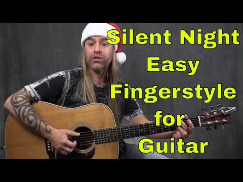 How To Play Silent Night (Easy Fingerstyle Guitar Lesson)