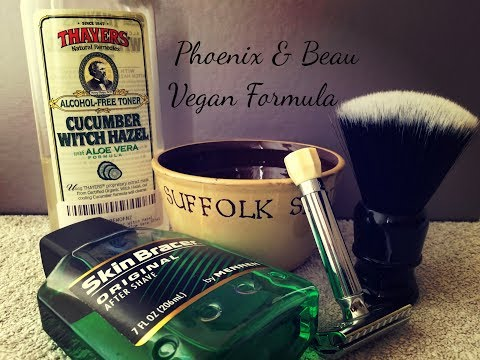 Phoenix & Beau Vegan Formula ~ EverShave Quarter Moon Brush ~ Skin Bracer After Shave