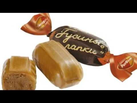 Интересные факты о конфетах Гусиные лапки.