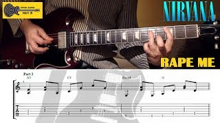 Rape Me (Nirvana) GUITAR LESSON with TAB and CHORDS