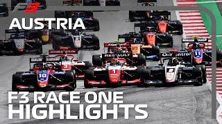 F3 Race 1 Highlights | 2020 Austrian Grand Prix