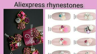 FLOWER RHYNESTONES PEARL JEWELRY NAIL ART FROM ALIEXPRESS REVIEW