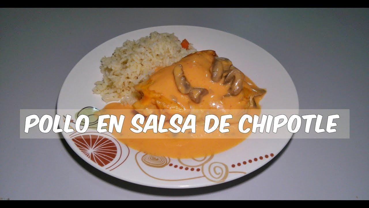 COMO HACER POLLO EN SALSA DE CHIPOTLE RECETA YouTube