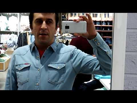 Рубашка. Голубая, джинсовая мужская рубашка. Классика классическая.