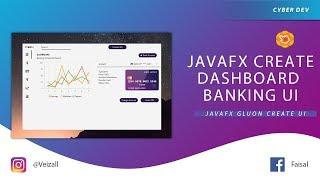 JavaFx Dashboard Banking Simple Ui
