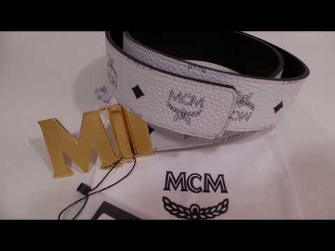 MCM Reversible Belt Unboxing New Authentic With Tags