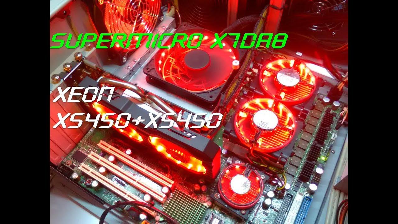 SuperMicro X7DA8 OVERCLOCK DUAL CPU XEON X5450 @3 57Ghz-GTA V PERFORMANS  TEST