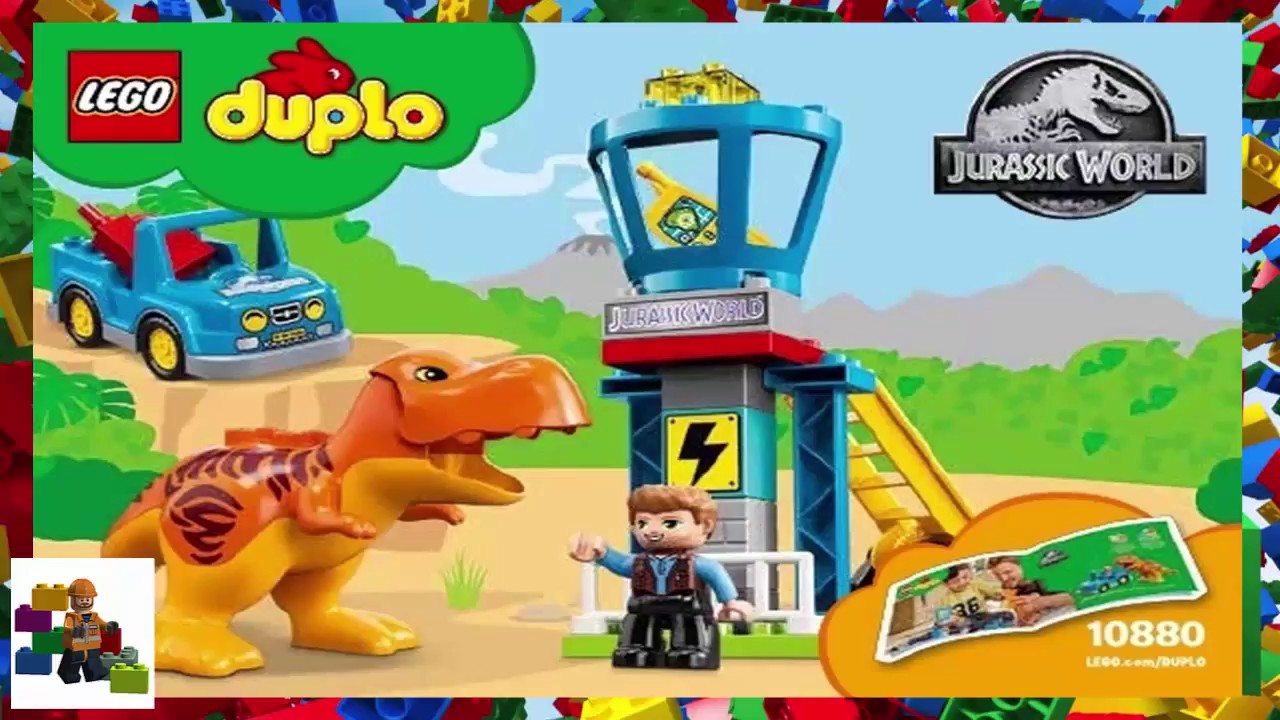 Lego Instructions Duplo Jurassic World 10880 T Rex Tower