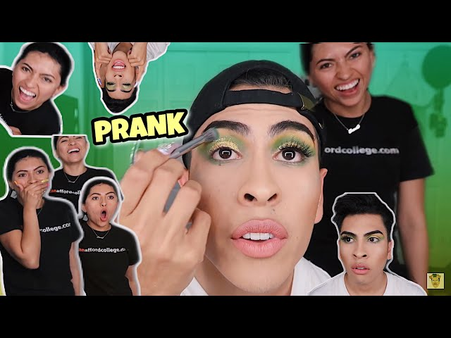 I DID MY MAKEUP HORRIBLY TO SEE HOW MY HERMANA WOULD REACT!! | Louie's Life