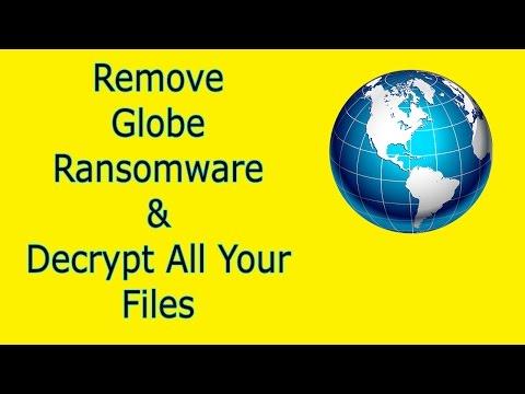 Remove & Decrypt Globe Ransomware (V1,V2 or V3)