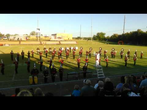 Pauls Valley Marching Band 2014 Intro, and Africa