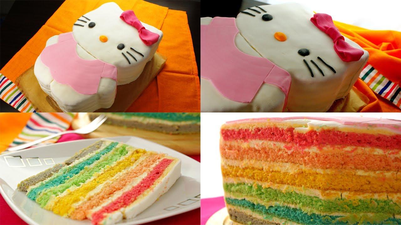 Tort Hello Kitty Tęczowy Smaczne Przepisytv Youtube