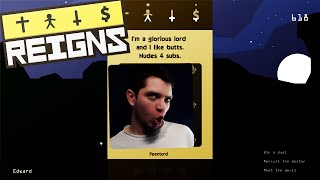 Reigns Gameplay - SWIPE RIGHT TO KILL - Reigns Game Part 1 (PC/Steam)
