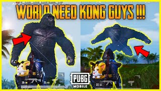 PUBG MOBILE KONG IS HERE IN SANHOK | KONG MODE IN PUBG MOBILE - GODZILLA VS KONG MODE | KONG 🐵😲😍