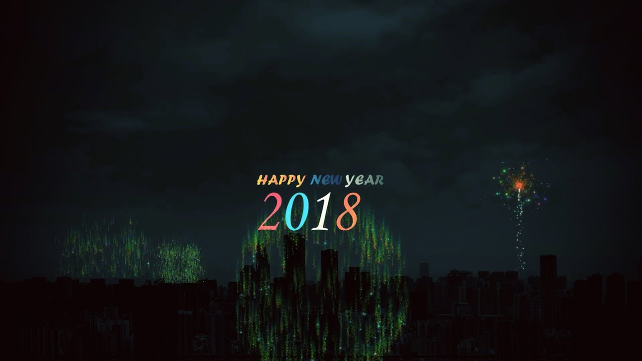 happy new year 2018 fireworks in after effects with free template