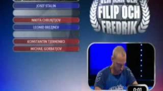 Vem kan slå Filip och Fredrik i huvudstäder, sovjetiska generalsekreterare och herr landslaget 94