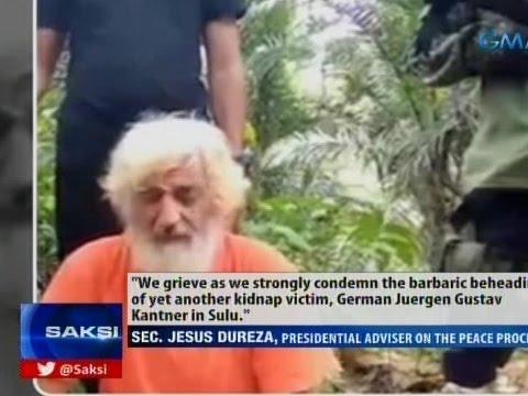 Saksi: Sec. Dureza, kinondena ang pamumugot ng Abu Sayyaf sa bihag nilang German