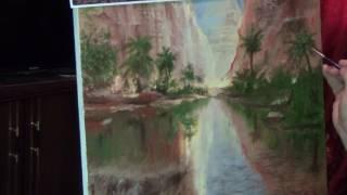 рисуем вместе (видео - 3 ) рисуем пальмы,деревья траву
