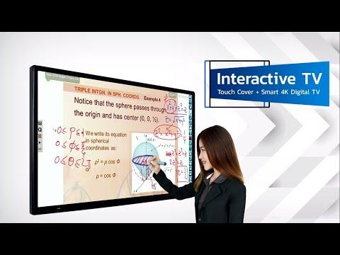 """Interactive TV"" เปลี่ยน TV ให้ขีดเขียนได้ เพียงสวม Touch Cover"