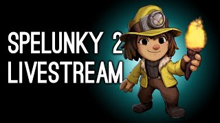 Spelunky 2 Livestream! Luke Dies Over and Over Trying to Save Dogs in Spelunky 2
